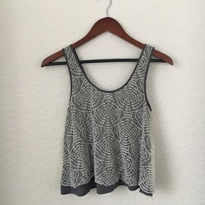 [Urban Outfitters] Grey Floral Knit Tank